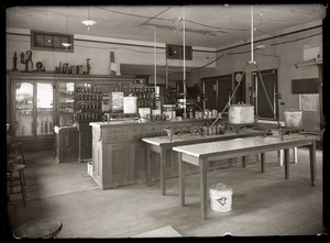 Thumbnail of Home Economics laboratory and products, Massachusetts Agricultural College