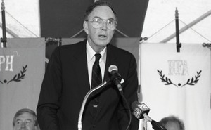 Thumbnail of Ceremonial groundbreaking for the Conte Center: unidentified speaker