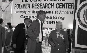 Thumbnail of Ceremonial groundbreaking: unidentified man and Corinne Conte