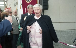 Thumbnail of Dedication ceremonies for the Conte Polymer Center: Corinne Conte arriving