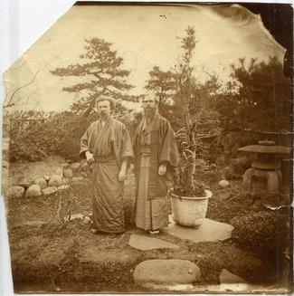 An image of: Benjamin Smith Lyman (right) in Japan, ca.1879