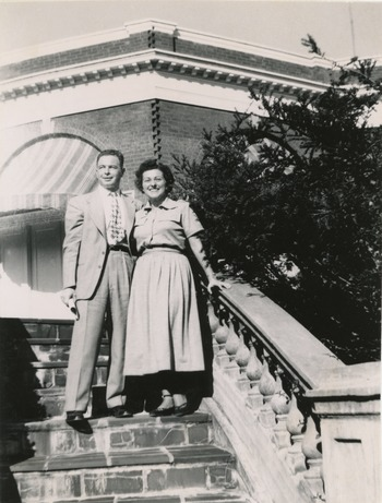Abe and Ruth Ozer, in Virginia, 1951.