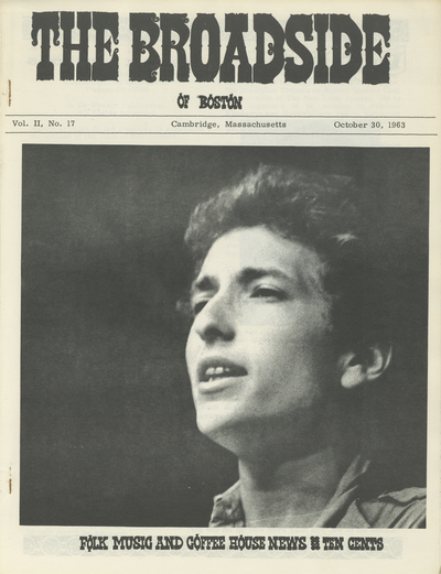 An image of: Bob Dylan on the cover of vol. 2:17