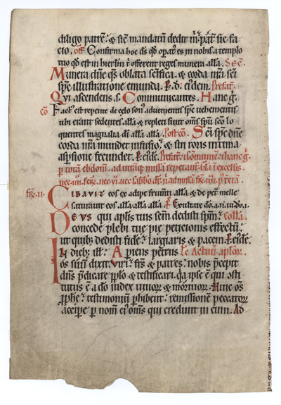 Missale Plenarium [Missal]. Spain (or Southern France). Latin text in revived Carolingian script