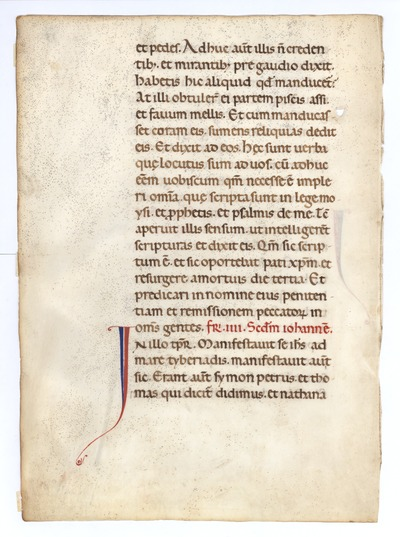 Lectionarium [Lectionry]. Italy. Latin text in revived carolingian script