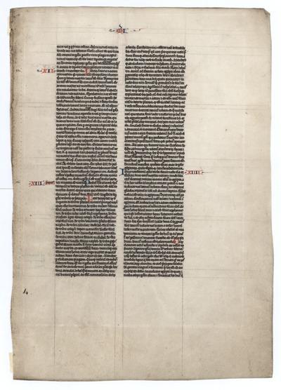 Biblia Sacra Latina, Versio Vulgata [Bible]. France. Latin text in early angular gothic script
