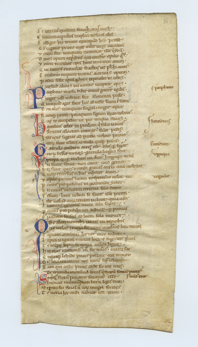 Aurora [Aurora]. England. Latin text in early gothic script