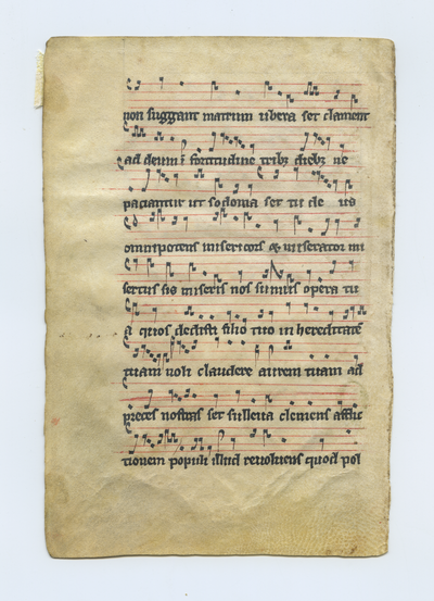 Graduale [Gradual]. England. Latin text in early angular gothic script, square Gregorian notation