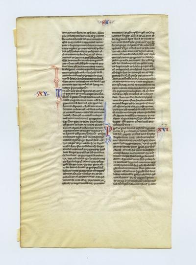 Biblia Sacra Latina, Versio Vulgata [Bible]. Italy. Latin text in rotunda gothic script