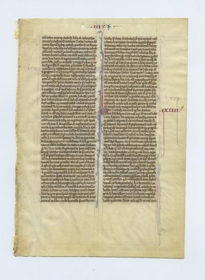 Biblia Sacra Latina, Versio Vulgata [Oxford Bible]. England (Oxford). Latin text in angular gothic script