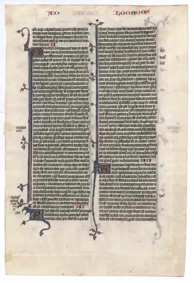 Biblia Sacra Latina, Versio Vulgata [Bible]. France. Latin text in angular gothic script