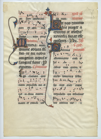 Missale Bellovacense [Missal]. France (Beauvais). Latin text in transitional gothic script