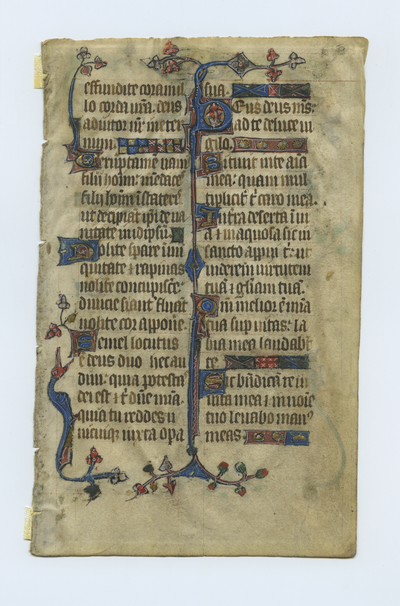 Psalterium [Psalter]. England. Latin text in angular gothic script