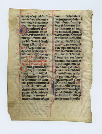 Breviarium [Breviary]. France. Latin text in angular gothic script