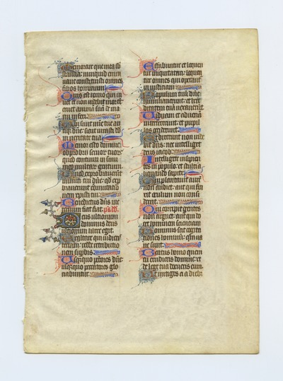 Horae Beatae Mariae Virginis [Book of Hours]. England (?). Latin text in angular gothic script