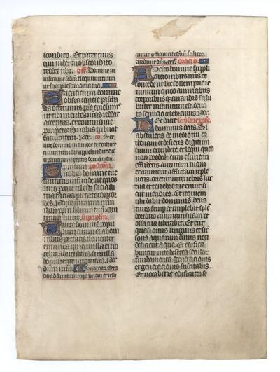 Missale [Missal]. France (Rouen). Latin text in angular gothic script
