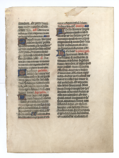 Missale [Missal]. France (Rouen). Latin text in angular gothic script