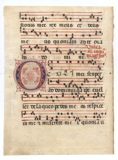 Antiphonarium [Antiphonal]. Italy. Latin text in rotunda  gothic script, Gregorian notation
