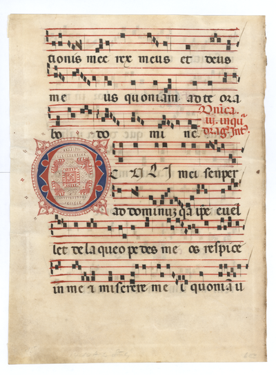 Antiphonarium [Antiphonal]. Italy. Latin text in rotunda  gothic script, Gregorian notation