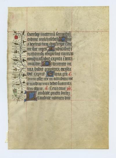 Horae Beatae Mariae Virginis [Book of Hours]. France. Latin text in angular gothic script