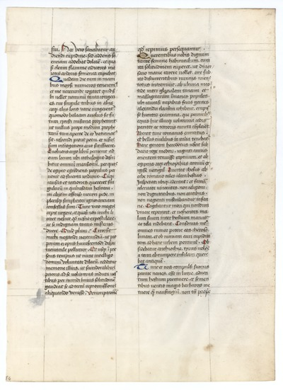 Sanctus Hieronymus, Contra Jovinianum [Writings of Saint Jerome]. France. Latin text in lettre de somme