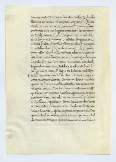 T. Livii Urbe Condita Libri [History of Rome]. Italy. Latin text in humanistic script