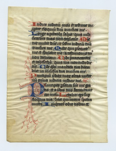 Horae Beate Mariae Virginis [Book of Hours]. Netherlands. Latin text in bold angular gothic script