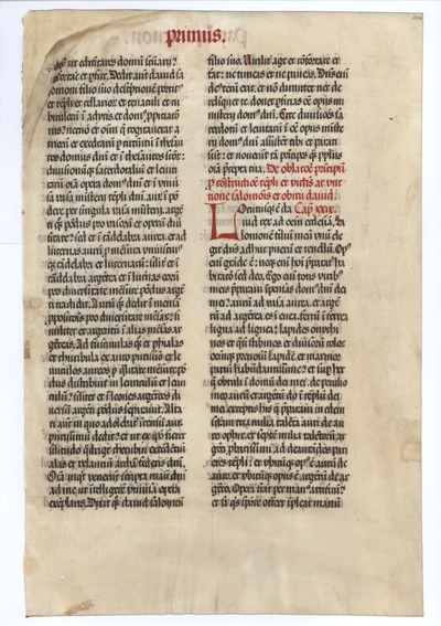 Biblia Sacra Latina, Versio Vulgata [Vulgate Bible]. Germany. Latin text in semi-gothic script