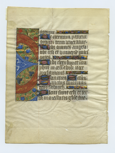 Horae Beate Mariae Virginis [Book of Hours]. Netherlands. Latin text in angular gothic script