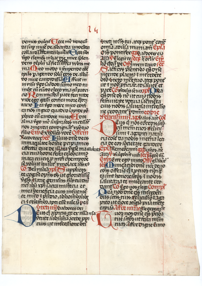 Missale [missal]. Germany. Latin text in letter batarde
