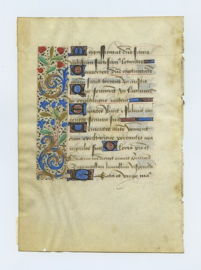 Horae Beate Mariae Virginis [Book of Hours]. France. Latin text in cursive gothic script