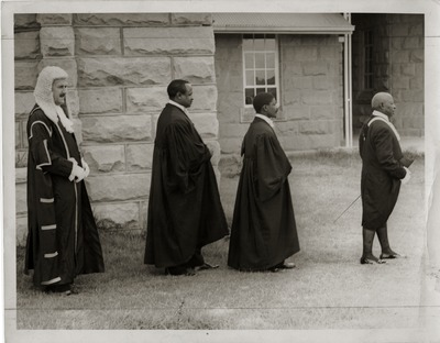 Procession in legal robes, ca. 1976