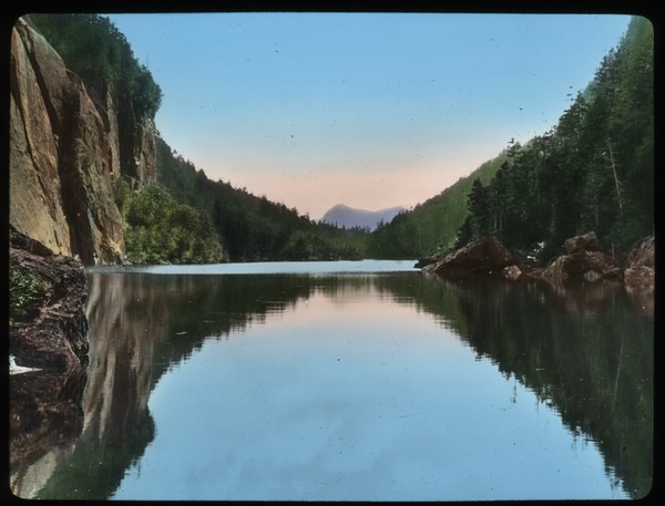 Cascade Lake Adirondacks (cliffs and hills go into lake), undated