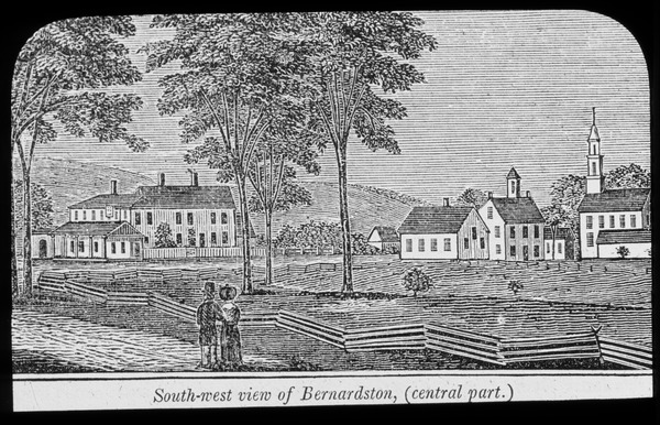 Southwest view of Bernardston - central part.(etching), undated