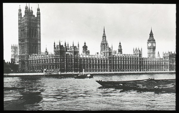 Houses of Parliament, London, ca. 1920