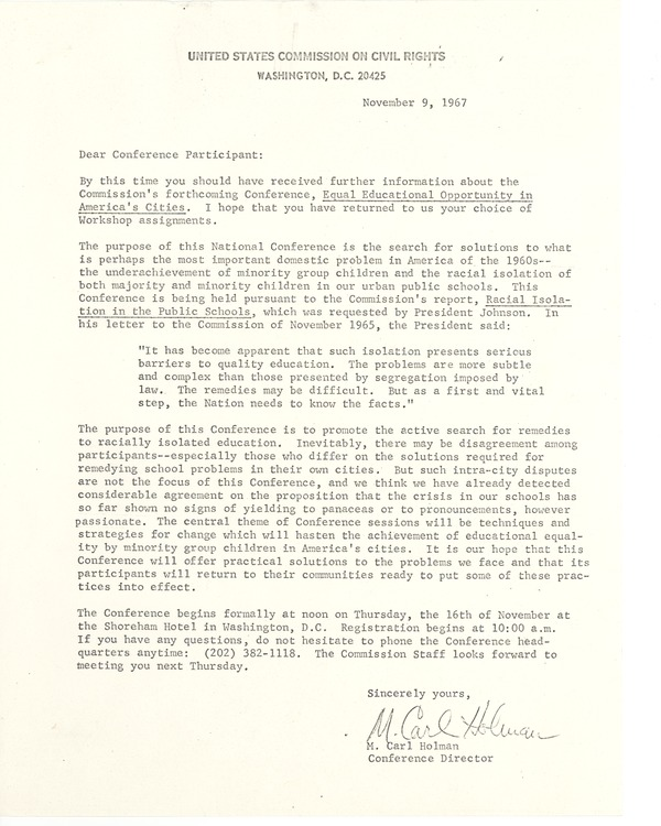 United States Commission on Civil Rights, 1967
