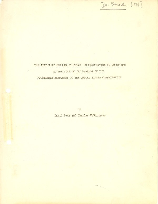 National Association for the Advancement of Colored People  (NAACP), 1949–April 27, 1950