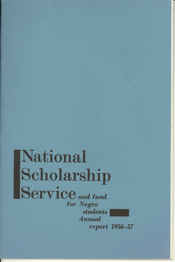 National Scholarship Service and Fund for Negro Students, October 3, 1957–1957