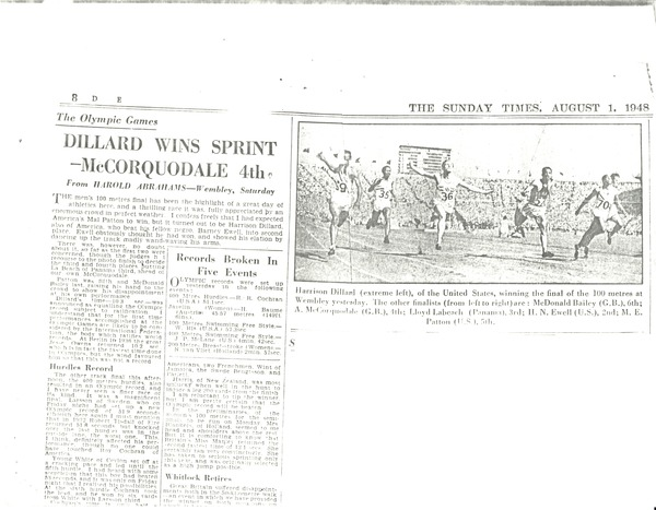 Newspaper clippings: sports, August 1, 1948–June 2, 1962