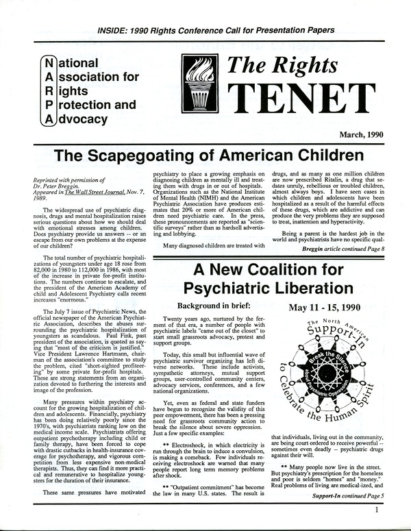 The  Rights Tenet, March 1990