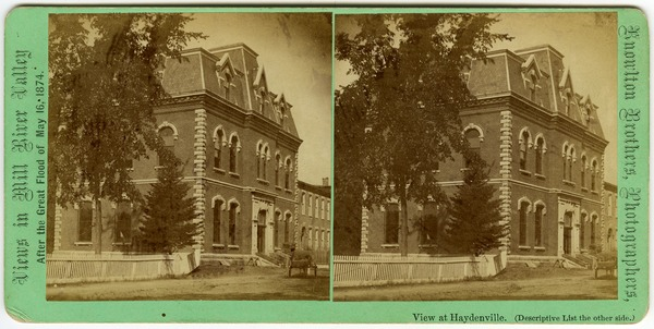 No. [101]. View at Haydenville: View of Hayden, Gere and Co.'s Band Building and Office, 1874