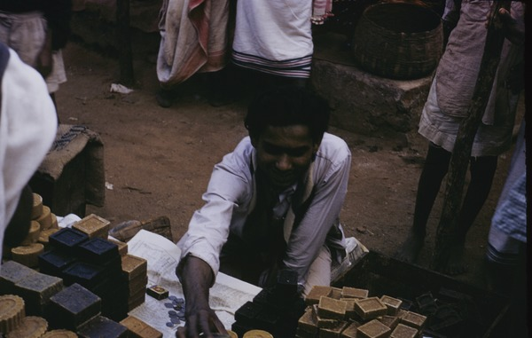 Selling soap at the market in Ranchi, 1956