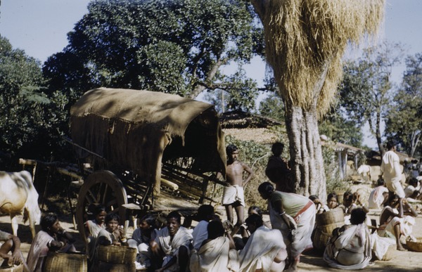 Bringing produce to market in Ranchi, 1956