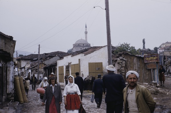 Muslim men in Čaršija, ca. May 1954