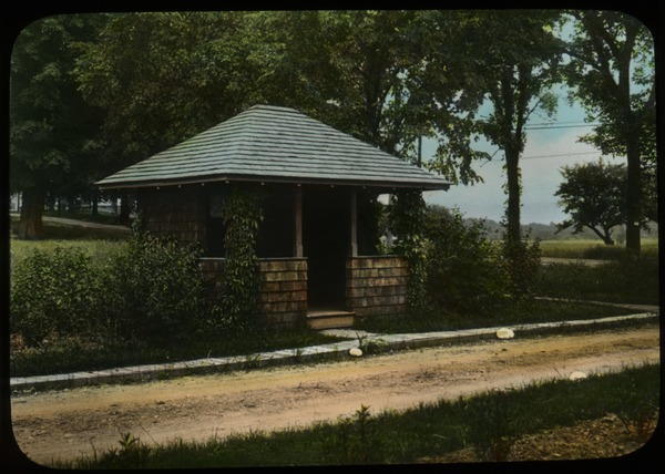 Trolley Shelter, Amherst (small wood hut along road), undated