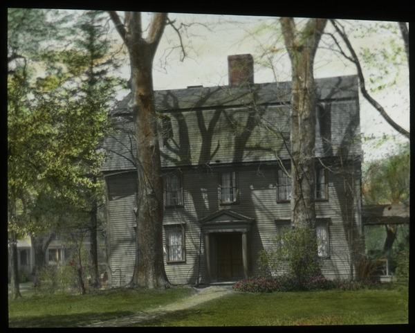 Sycamores, Amherst (Colonial house with sycamores in front), undated