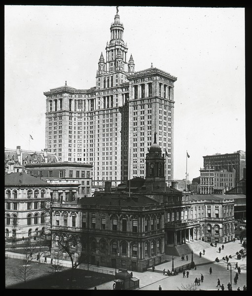 New York City Hall and Municipal Building, ca. 1915