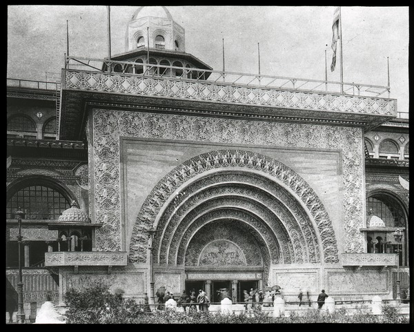 The  Golden Gateway to the Transportation Building, Columbian Exposition, ca. 1893