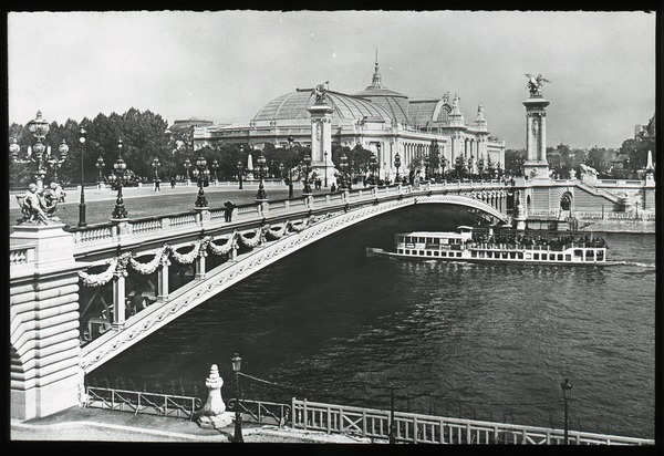 Pont Alexandre III and Grand Palais, ca. 1920
