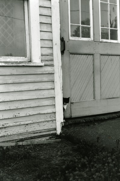 Mr. Moustache at the entrance to the Horse Barn, ca. 1994